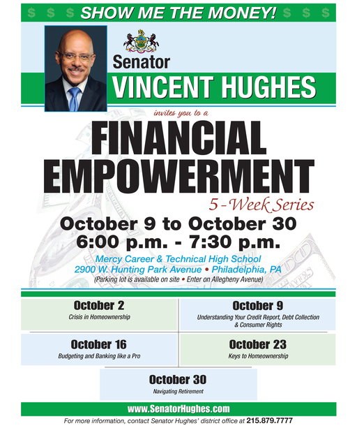 Senator Hughes to Host Financial Empowerment Seminar Series at Mercy CTE